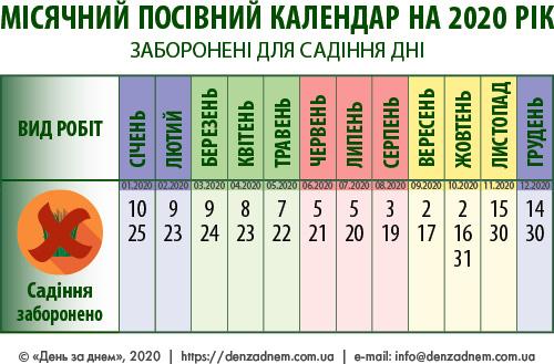 Посівний календар: заборонені для садіння дні
