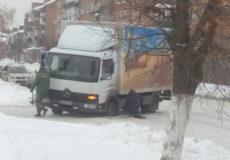 Вантажівку спіткала вибоїна