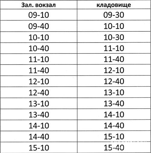 Розклад руху автобусів на міське кладовище 23 квітня 2017 року