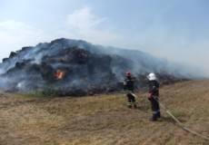 Ймовірно підпал: на Шепетівщині горіла солома