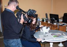 У Шепетівці редакційний кіт став телезіркою
