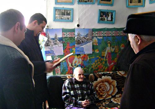 У Серединцях зі столітнім ювілеєм привітали Михайла Ліщука