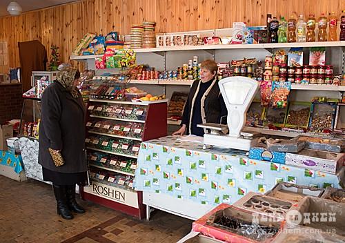 Який асортимент у сільських магазинах?