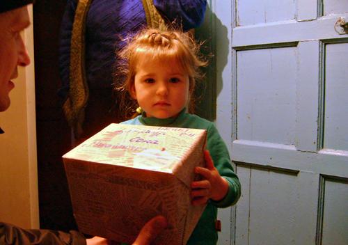Діти загиблих та поранених атовців отримали подарунки з Польщі