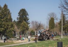 З міського кладовища вивезли 20 вантажівок сміття