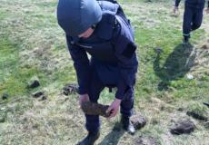 Піротехніки знищили ще один артилерійський снаряд