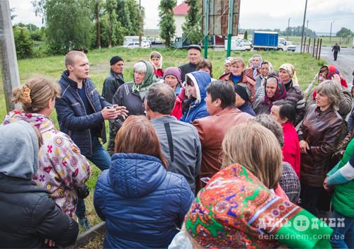 Ошукані селяни не дочекалися розрахунку кооперативу та вкотре вийшли на протест