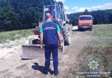 Правоохорнці призупинили незаконний видобуток піску на Хмельниччині