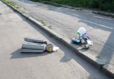 У Шепетівці невідомі знову розтрощили сміттєву урну