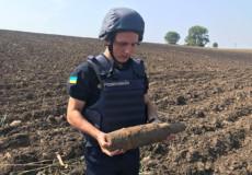 У Городищі знайшли артилерійський снаряд