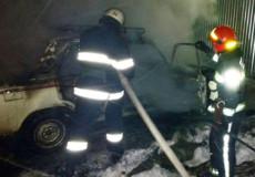 У Плесні згоріла автівка