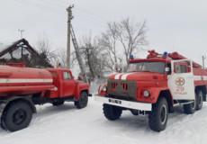 Грицівські вогнеборці допомогли загасити пожежу в Полонському районі