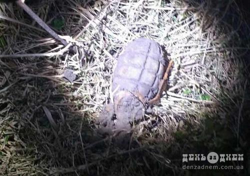 В Шепетівці в житловій зоні шукали скарби, а знайшли гранату