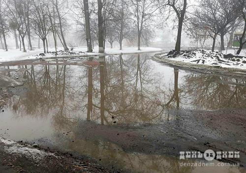 Зливові колодязі не встигають за таненням снігу