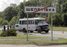 На в'їзді у Шепетівку не розминулися два «Мерседеса»