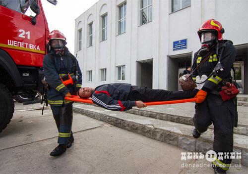 У Шепетівському медичному коледжі «сталася» пожежа