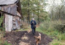 У гущавині лісу на межі двох районів Хмельниччини одиноко проживає старенька бабуся