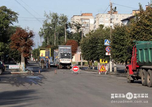 У Шепетівці на одній із вулиць перекрито рух