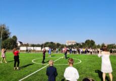 На Святі першого дзвінка в Судилківському ліцеї відкрили футбольне поле