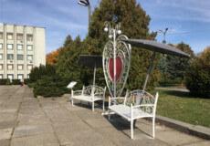 На центральній площі Шепетівки встановили незвичайну фотозону