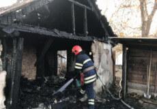 У Шепетівці на вулиці Гончарова горіла господарча будівля