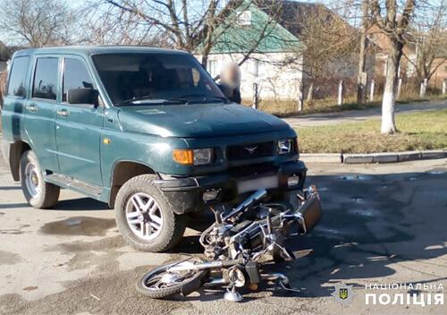 У Шепетівці зіткнулися УАЗ та мотоцикл: водій двоколісного в реанімації