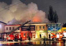 У Старокостянтинові гасили пожежу надзвичайники з усієї округи