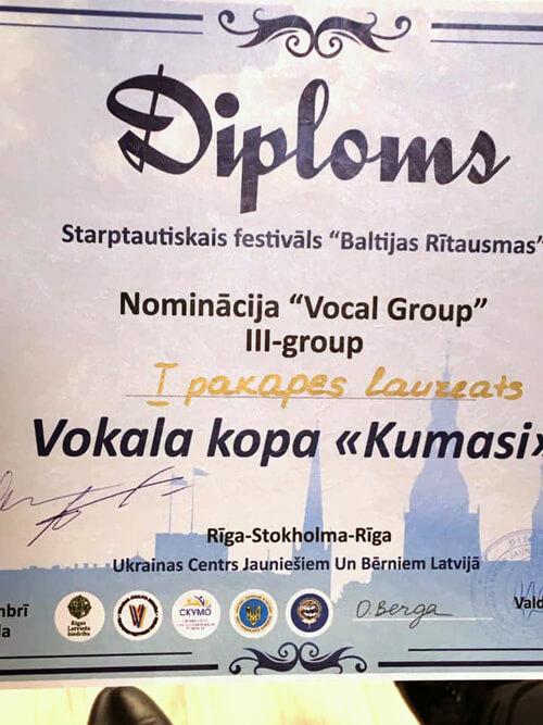 За кордоном шепетівські «Кумасі» здобули перемогу на фестивалі «Балтійські Зорі»
