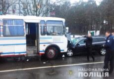 Міжміський автобус зіштовхнувся із «Ауді», яким керувала 30-річна жінка