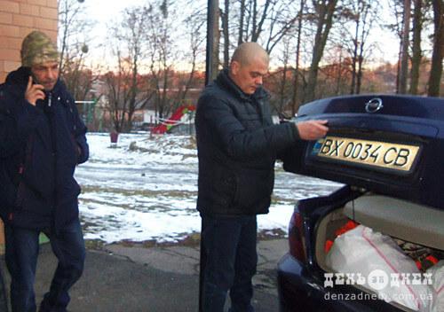 Селяни з Шепетівщині передали гостинці для захисників на сході України