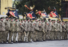 Ракетники Хмельниччини отримали нові прапори та частку святих мощів