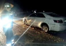 Рятувальники Красилівщини дістали з кювету авто, яким кермував іноземець