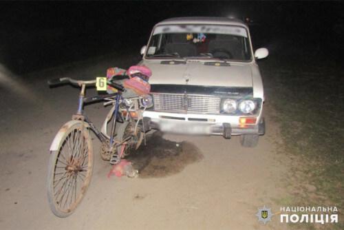 На Хмельниччині п'яний водій на смерть збив велосипедиста