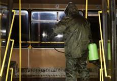 У Шепетівці громадський транспорт наприкінці зміни дезінфікують