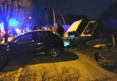 Вночі у Шепетівці в наслідок ДТП перекинулися автомобілі