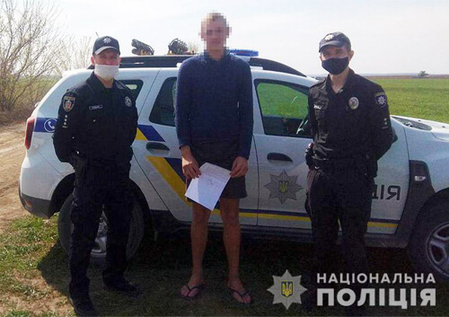 Офіцери громади під час перевірки умов самоізоляції знайшли чоловіка, що перебував у розшуку