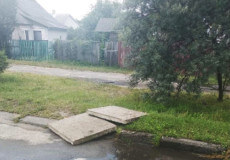 У Славуті невідомі вкрали бетонні плити