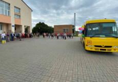 Учні Грицівської ОТГ отримали новенький шкільний автобус