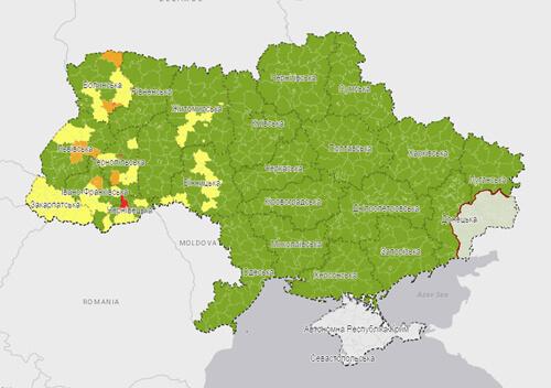 Україну поділили на зони за рівнем поширення COVID-19