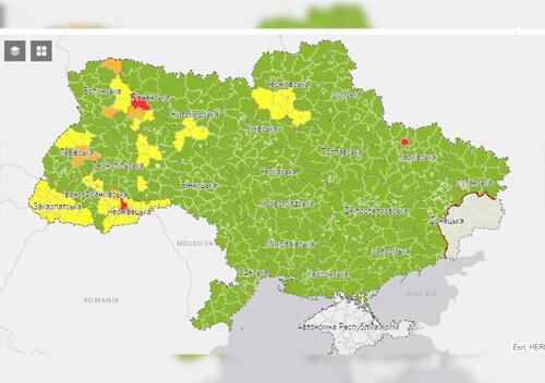 П'ять районів Хмельниччини потрапили до «жовтої» зони