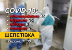 На Шепетівщині зафіксовано нові випадки COVID-19: один із них — у Судилкові
