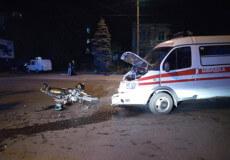 У Шепетівці водій «швидкої» примирився із потерпілим мотоциклістом