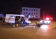 У Шепетівці мотоцикл врізався у карету «швидкої», яка поверталася з виклику