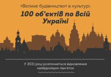 «Велике будівництво» в культурі: які пам'ятки відновлять у 2021 році