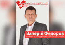 Коротка програма кандидата на посаду Шепетівського міського голови Валерія Федорова
