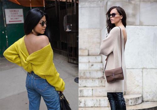 Восени 2020-го в моді одяг з оголеною спиною та хутряними помпонами