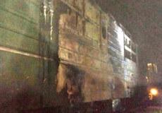 Вночі на Шепетівщині загорівся локомотив, що перевозив 61 вагон щебеню