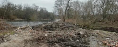 На Славутчині загатили рукав річки Горинь, чим це загрожує