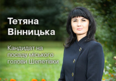 Стратегія розвитку міста кандидата на посаду міського голови Шепетівки Тетяни Вінницької