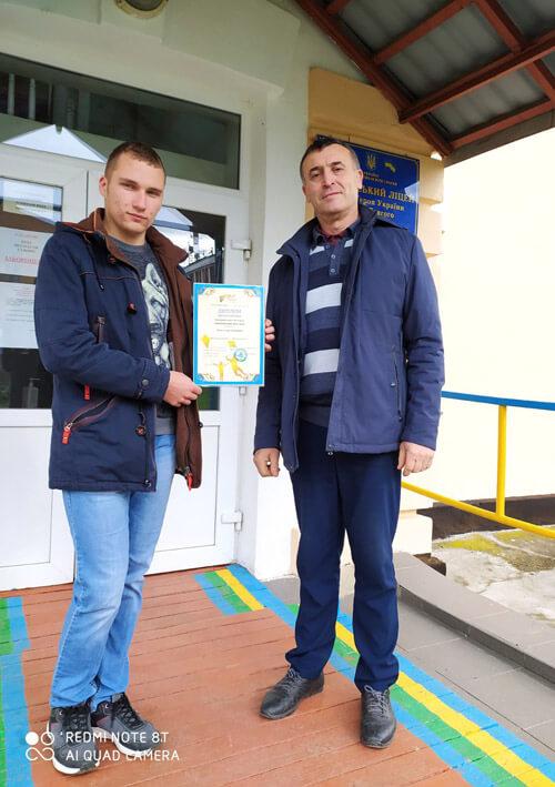 Ліцеїст з Шепетівського району отримав премію на реалізацію власного кайт-проєкту